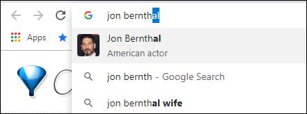 Chrome address bar search suggestion image thumbnail