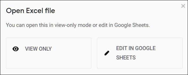 Haga clic en Ver o Editar el archivo de Excel