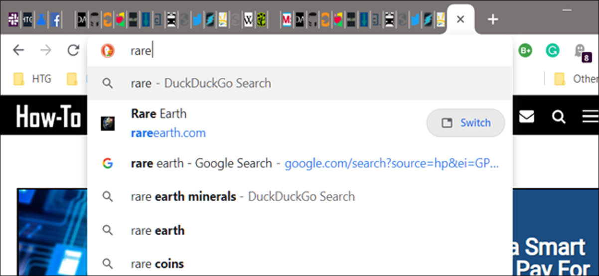 Search for open tabs hero