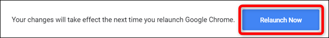 Relaunch Chrome