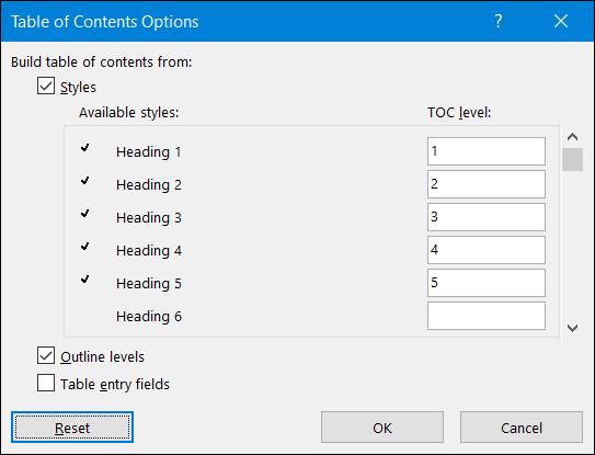 seleccione los estilos de título que desee utilizar
