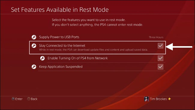 Allow PS4 Internet Access While in Rest Mode