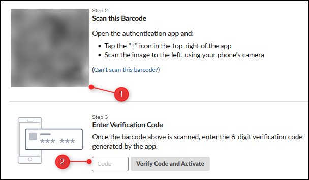 The QR code image, and verification code textbox
