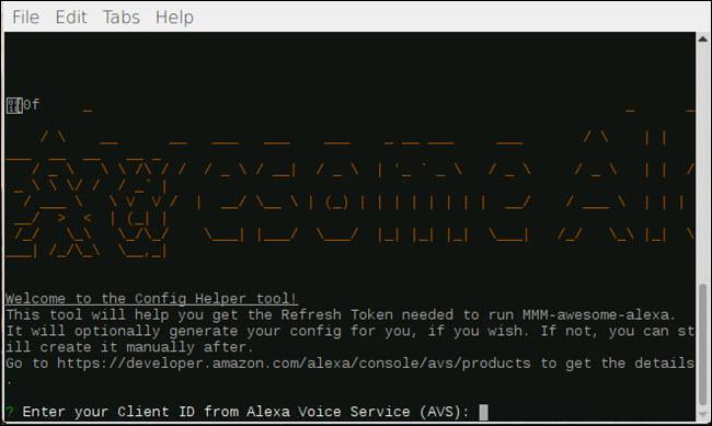 Config-helper dialog for MMM-awesome-alexa