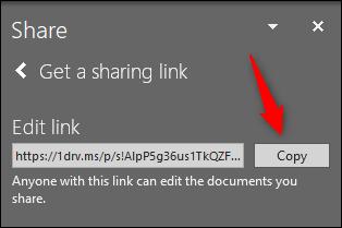 Copy share link