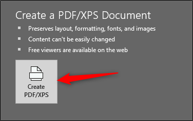 Create PDF or XPS file