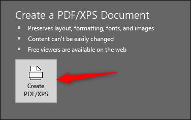 Create PDF or XPS file