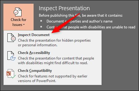 Inspect Document