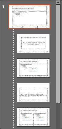 Preview of Slide Master and sub slides