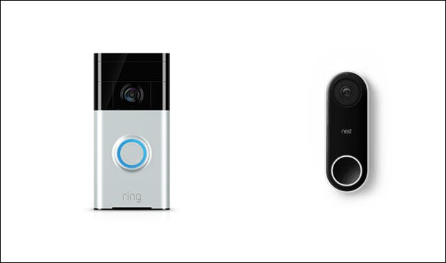 Ring Video Doorbell and Nest Hello Doorbell