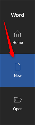 Select New tab to search for templates