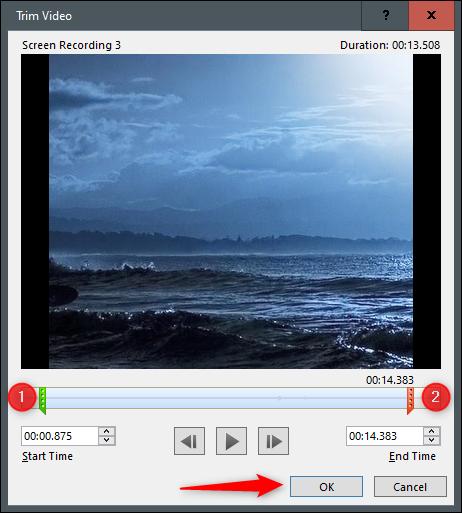 Trim video window