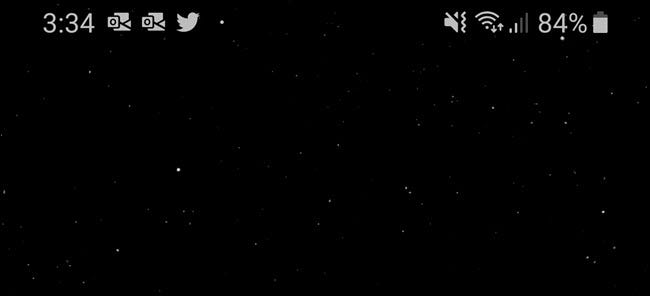 The top bar of an Android screen, showing a Wi-Fi Symbol, battery life, and other notifications.