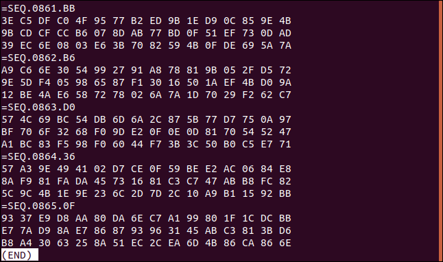 bottom of the logfile in a terminal window
