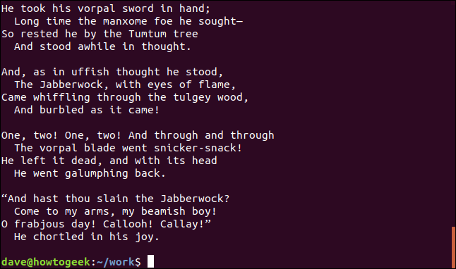 contents of poem1.txt and poem2.txt in a terminal window