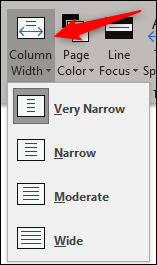 change column width
