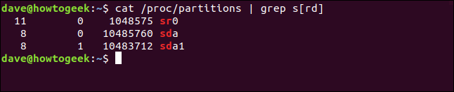 output from cat /proc/mounts in a terminal window