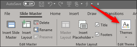 edit slide master theme
