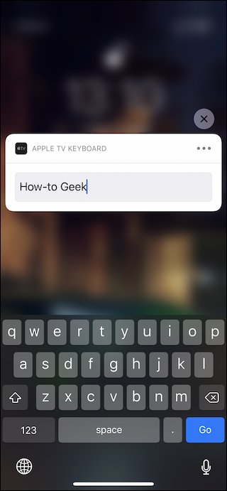 Enter the required text using the on-screen keyboard
