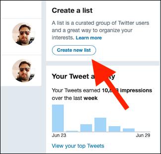 "Click ""Create New List."""