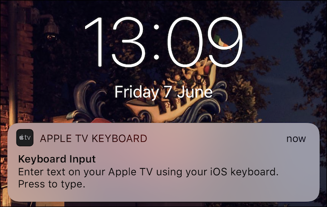 Tap the keyboard notification