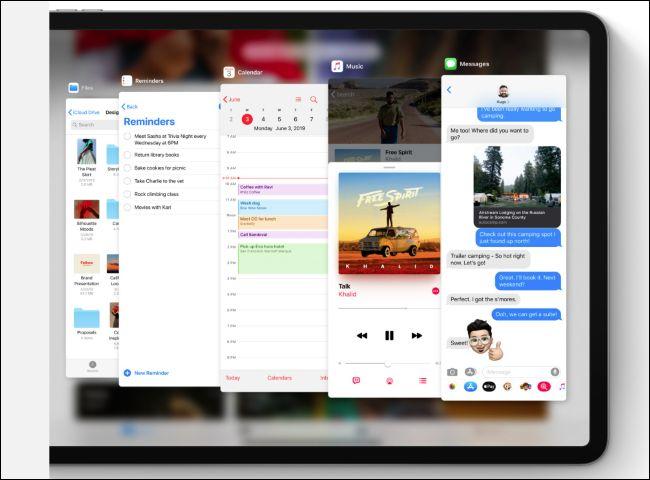 iPadOS Slide Over app switcher