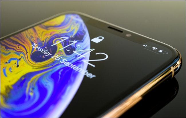 iPhone XS with an OLED screen