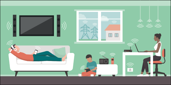 Devices emitting electromagnetic fields in the home