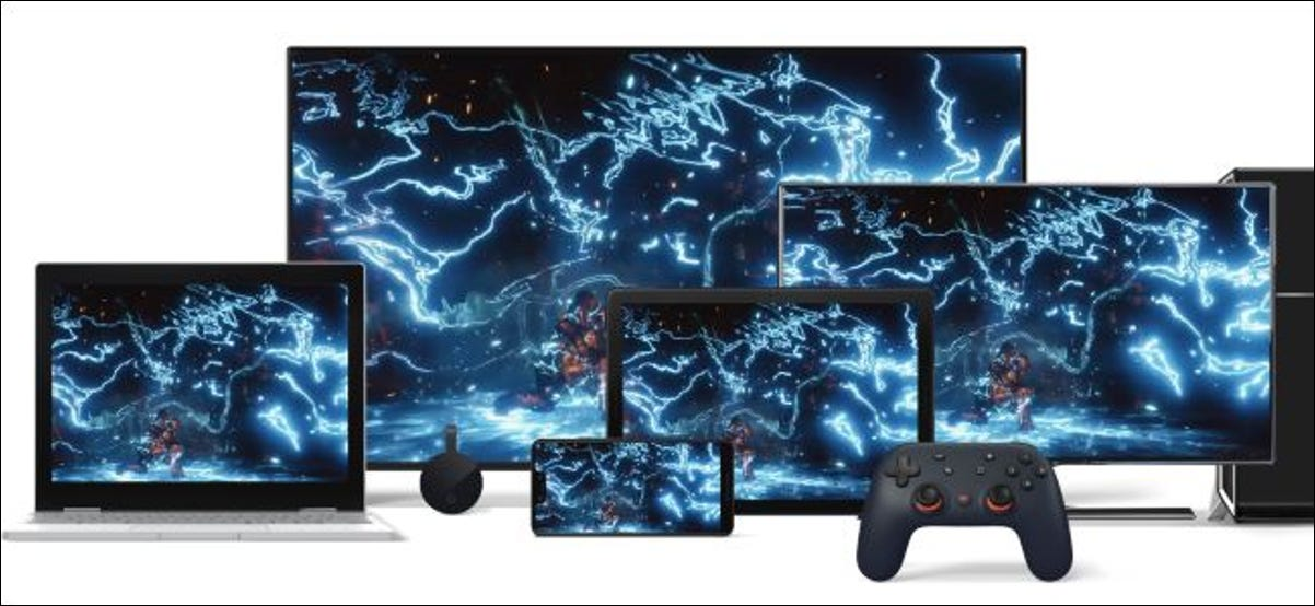 Google Stadia streaming on multiple devices