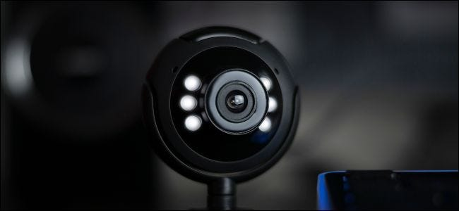 USB desktop webcam with lights