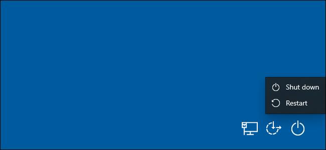 Restart PC from Ctrl+Alt+Del screen