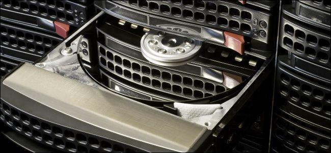 Open hard drive in hot swap tray