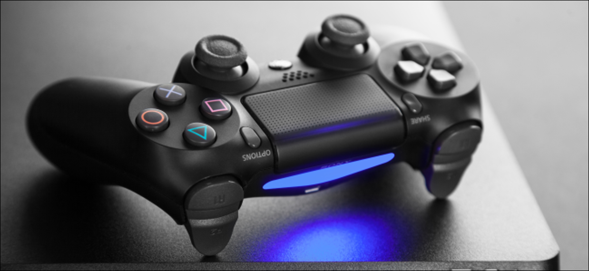 DualShock 4 controller on a PlayStation 4 console