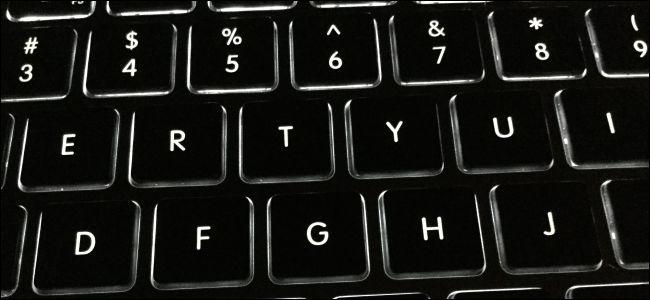 Backlit computer keyboard