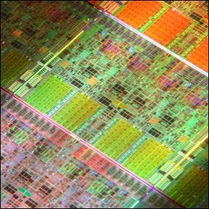 Microscopic view of an i7 Intel processor