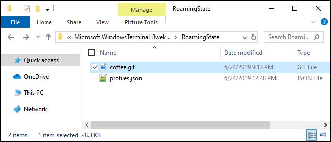 Providing a background image for Windows Terminal