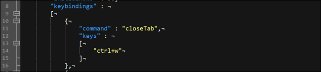 Windows terminal key binding options.