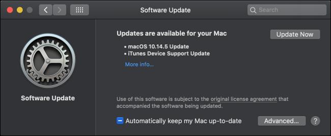 Instalar actualizaciones de macOS