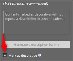 mark as decorative