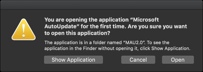 Run Microsoft AutoUpdate App