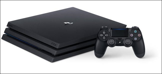 A Sony PlayStation 4.