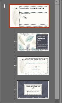 slide master theme change