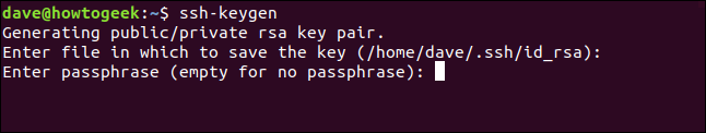 Prompt for passphrase in a terminal window