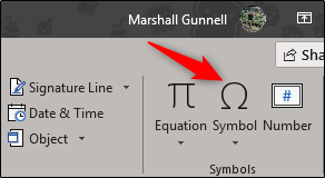 symbol option in symbols group