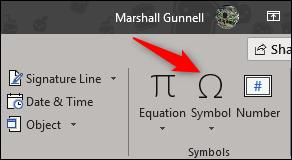 symbol option in symbols group