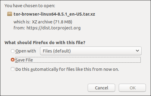 Open or save file dialog