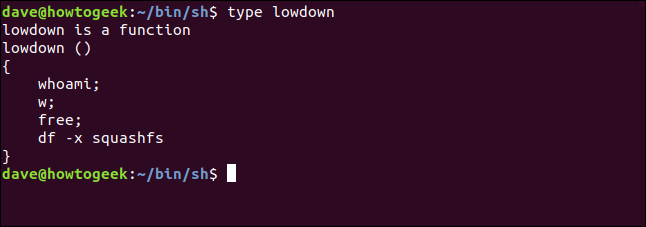 type lowdown in a terminal window