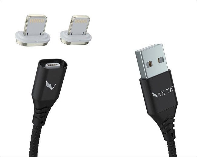Volta magnetic charging adapter