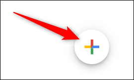 Hover over the multicolored plus sign in the bottom-right corner.