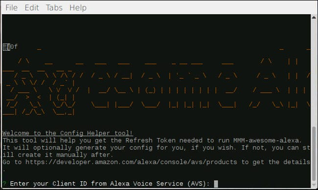 Config-helper dialog for MMM-awesome-alexa
